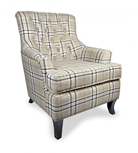 Jamestown Check Fabric Armchair