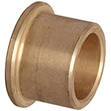 Bunting Bearings CFM010013010  Cast Bronze C93200 SAE 660 Flanged Sleeve Bearings, 10mm Bore x 13mm OD x 10mm Length - 16mm Flange OD x 1.5mm Flange Thick