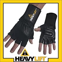 HeavyLift Wrist Wrap Weight Lifting Exercise Gloves Small