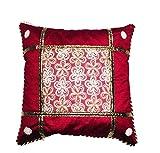 Fanto Cover Cotton Set Of 5 Cushion Cover- Maroon, 41 cm x 41 cm