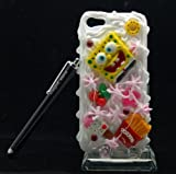 Spongebob - Sweet 3d Cake Ice Cream Hard Back Cover Case Skin for Apple Iphone5 5 (16g 32G) + Screen Protector + Touch Screen Pen + Bling Gift