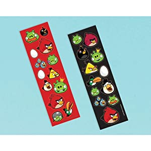 Angry Birds Sticker Sheets (8) (Multi-colored) Party Accessory