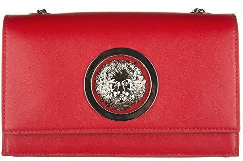 Versus Versace borsa donna a spalla shopping in pelle nuova rosso