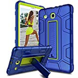 Venoro Samsung Galaxy Tab E 9.6 Case, [Kickstand Feature] Shockproof Rugged Heavy Duty Three Layer Armor Defender Protective Case Cover for Samsung SM-T560 / SM-T561 / SM-T567 (Navy Blue)