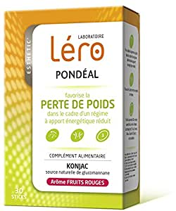Léro Pondéal Perte de Poids 30 Sticks - Saveur : Fruits Rouges