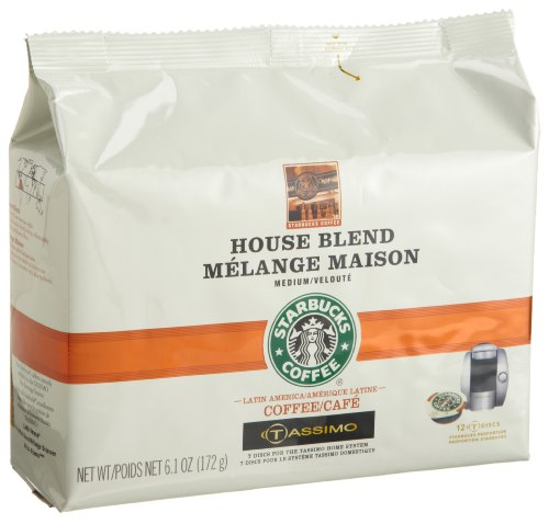 Starbucks House Blend Coffee (Medium), 12-Count T-Discs For Tassimo Coffeemakers (Pack Of 2)
