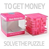 Picture Of <h1>Money Maze: Unique Way to Give Small Gifts, Items &#8211; Perfect Gift Puzzle Box for Kids &#8211; Cool 1, 2, 5 Dollar Coin Piggy Bank &#8211; Safe for Children &#8211; Birthday Christmas Gift Ideas for Dad Mom Men or Women</h1>