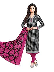 Taos Brand cotton dress materials for women womens dress materials cotton salwar suit New Arrival latest 2016 womens party wear Unstitched dress materials for women (1406 summer__maroon and black_freesize