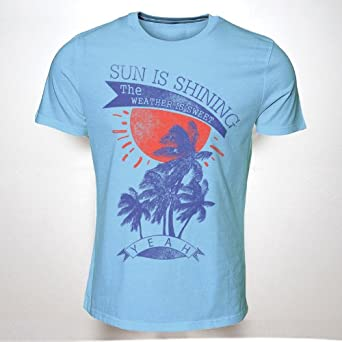 THE SUN IS SHINING THE WEATHER IS SWEET BOB MARLEY(GREY)(XXL) TSHIRT HIPSTER SWAG MENS