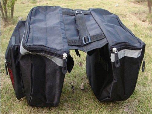 18L Bicycle Bike Big Rear Seat Tail Bag Pannier Outdoor Waterproof Racks Black front-29129