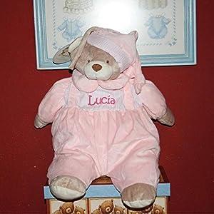PRIMERAEDAD/ Muñeco guarapañales personalizado con mombre/color rosa/ en Bebe Hogar