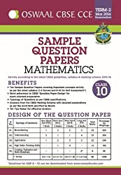 Oswaal CBSE CCE Sample Question Papers For Class 10 Term-II (October To March 2016) Mathematics