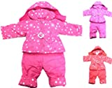 BABY GIRLS SNOWSUIT 2PC DUNGAREE & JACKET