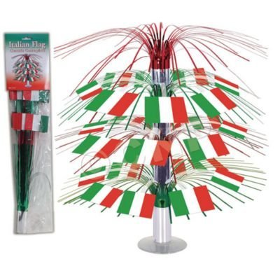 Italian Flag Cascade Centerpiece Party Accessory (1 count) (1/Pkg) - 1