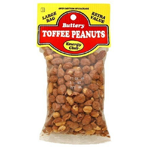 Buy Energy Club Buttery Toffee Peanuts, 8-Ounce Bags (Pack of 12) (Energy Club, Health & Personal Care, Products, Food & Snacks, Snacks Cookies & Candy, Candy, Toffee)