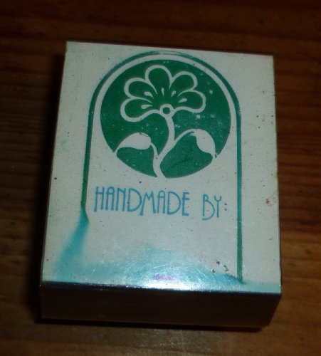 Handmade By Flower Rubber Stamp - 1