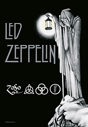 Heart Rock Licensed Bandiera Led Zeppelin - Stairway To .., Tessuto, Multicolore, 110X75X0,1 cm