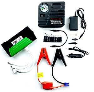 Nunet Nucharger PJ16 Multi-function battery charger jump starter with 12V portable air compressor laptop power supply 16800mAh 19/16/12V emergency flashlight safety hammer for roadside kit