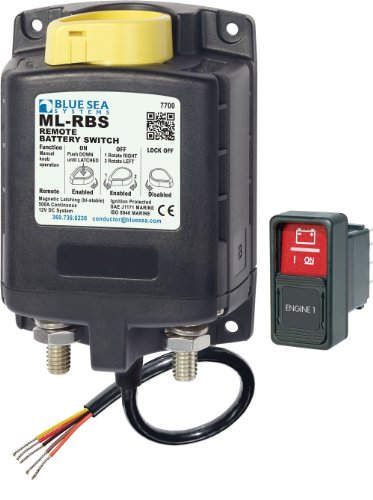 Blue Sea Systems 7700 Ml-Series Remote Battery Switch With Manual Control (12V Dc)