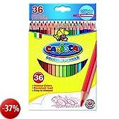 Carioca 41875 - Esagonale Confezione 36 Matite Colorate, Facili da Temperare