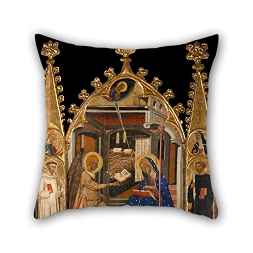Beautifulseason Oil Painting Circle Of Ferrer I Arnau Bassa - Annunciation And Three Kings Of The Epiphany Pillowcover 18 X 18 Inches / 45 By 45 Cm Best Choice For Teens Boys,dinning Room,saloon,re (Fitted Sheet Split King Power Bed compare prices)