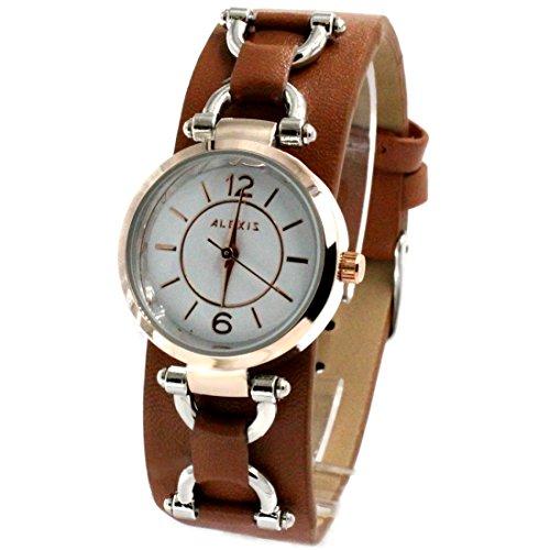 ukfw968-a-new-weiss-zifferblatt-braun-band-pnp-glanzend-silber-watchcase-damen-fashion-armbanduhr
