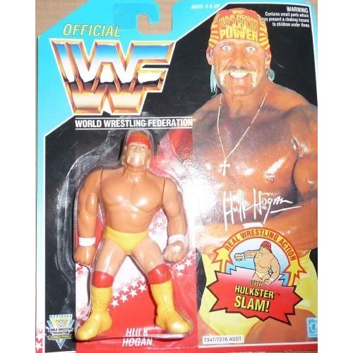 WWE WWF Hasbro Hulk Hogan NEW RARE MOC on US Card Series 5 Collectible Wrestling Figure by Hasbro