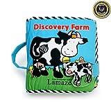 Paño de Discovery granja blando de colour negro ascensor-the-flaps tipo libro - Lamaze