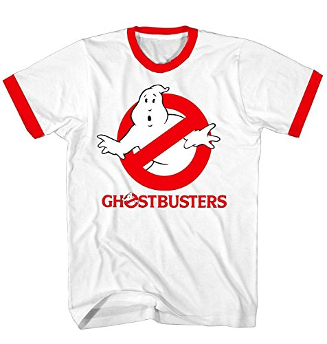 Ghostbusters 80s Retro Ringer T-shirt White