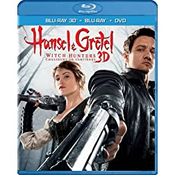 Hansel & Gretel: Witch Hunters, Unrated Cut (Blu-ray 3D / Blu-ray / DVD / Digital Copy + UltraViolet)