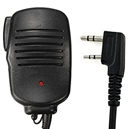 IFeng® 2 Pin Handheld Remote Speaker Mic Microphone PTT for Two Way Radio Kenwood TK-3202 TH-225A TH-235 Linton LT-3688 LT-6188