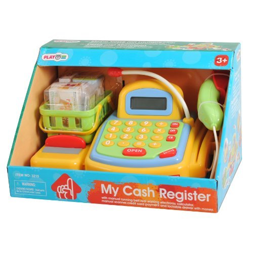 Playgo My Cash Register Color: Yellow Toy, Kids, Play, Children front-704610