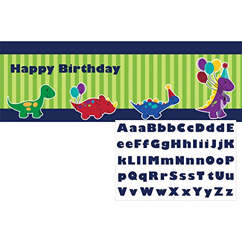 Creative Converting Little Dino Party Giant Banner with Stickers