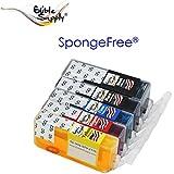 Sponge-Less Edible Ink Cartridge Combo Set for Canon PGI-225 Black & CLI-226 Color
