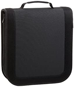 AmazonBasics CD / DVD Wallet 128 Disc Capacity Nylon Black