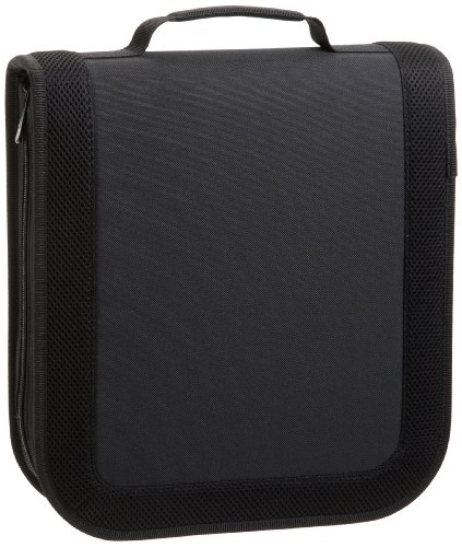 AmazonBasics - Porta 128 CD/DVD in nylon, colore: Nero
