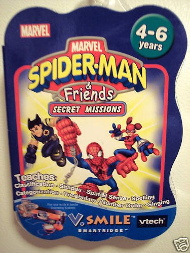 MARVEL SPIDER-MAN & FRIENDS SECRET MISSION VSMILE SMARTRIDGE - 1