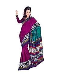 Meher Silk Printed Border Saree (SDE5063_Violet)