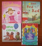 img - for Colors (Teacher Unit): Set of 4 Children's Picture Books (Pinkalicious ~ The Crayon Box That Talked ~ Red Red Red ~ What Color?) book / textbook / text book