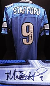 Matthew Stafford Autographed Hand Signed Detroit Lions Authentic Reebok Jersey - with... by Real Deal Memorabilia