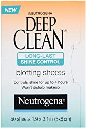 Neutrogena Deep Clean Shine Control Blotting Sheets, 50 Count