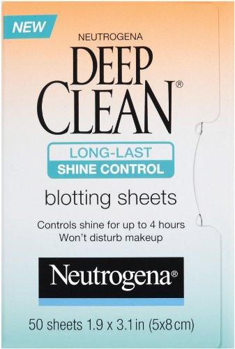Neutrogena Deep Clean Shine Control Blotting Sheets, 50 Count (Pack of 2)