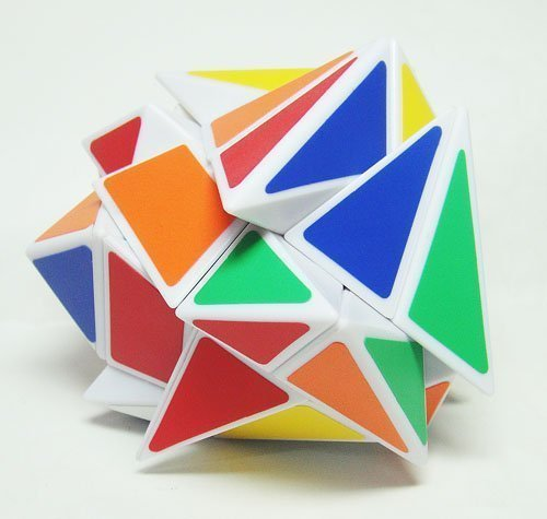 GoodPlay New YongJun YJ Fluctuation Angle Puzzle Cube 3x3 Angle puzzle cube White(+One customized tripod)