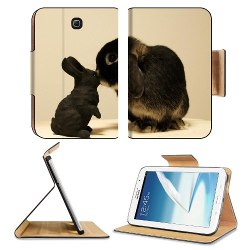 Rabbit White Black Brindle Baby Animal Samsung Galaxy Note 8 Gt-N5100 Gt-N5110 Gt-N5120 Flip Case Stand Magnetic Cover Open Ports Customized Made To Order Support Ready Premium Deluxe Pu Leather 8 7/16 Inch (215Mm) X 5 11/16 Inch (145Mm) X 11/16 Inch (17M front-133277