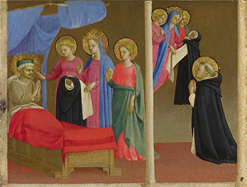 Oil Painting 'Workshop Of Fra Angelico The Vision Of The Dominican Habit', 16 x 21 inch / 41 x 54 cm , on High Definition HD canvas prints is for Gifts And Bath Room, Bed Room And Hallway Decoration (Toddler French Fries Costume compare prices)