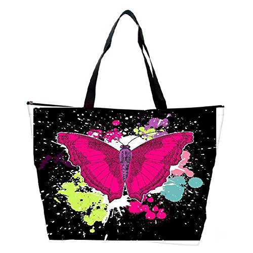 Snoogg Beautiful Butterfly On The Black Background Waterproof Bag Made Of High Strength Nylon