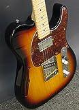 G&L Tribute ASAT Classic Guitar  Bluesboy Semi-Hollow (3-Tone Sunburst, Hard Rock Maple/Rosewood Neck)