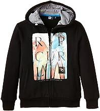 Rip Curl Fixed Sweat-shirt à capuche zippé Garçon Noir FR : 16 ans (Taille Fabricant : 16)