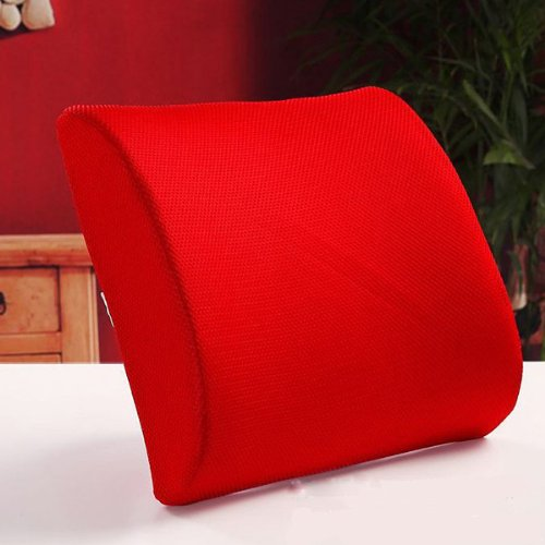 High Resilient Memory Foam Red Seat Back Pain Support Cushion