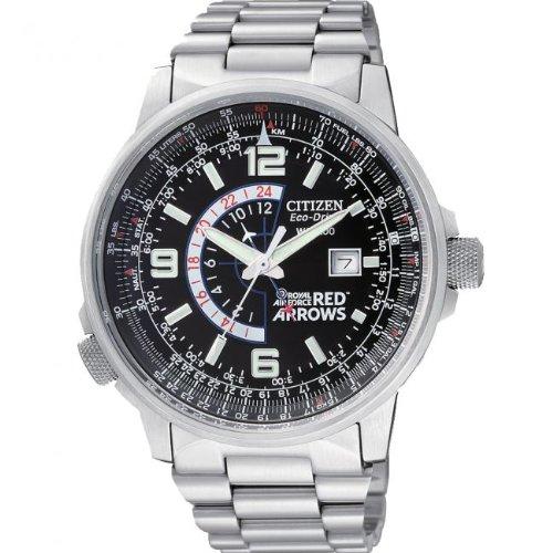 Citizen Gents Eco Drive Red Arrows Hawk Bracelet Watch BJ7050-54E